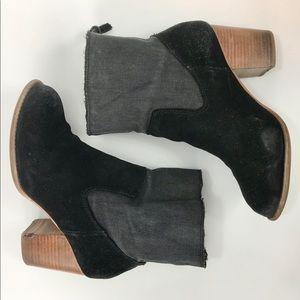 Splendid black leather denim Leon ankle bootie 8